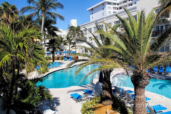 Photograph - Miami Beach Poolside Series 01 by Carlos Diaz
