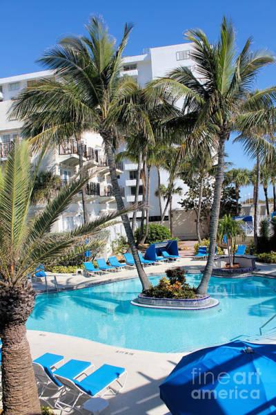 Photograph - Miami Beach Poolside Series 03 by Carlos Diaz
