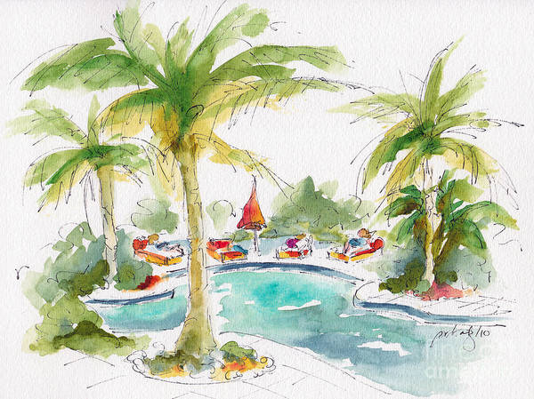 Painting - Poolside by Pat Katz