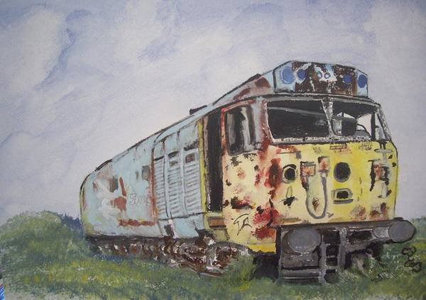 Diesel Trains Painting - Poor Old Dear by Carole Robins