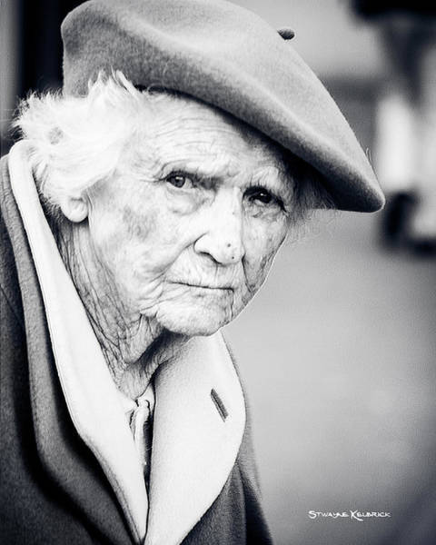 Photograph - Poor Old Lady by Stwayne Keubrick