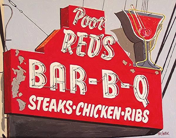 Poor Reds Art Print by Paul Guyer