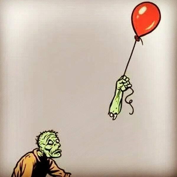 Poor Zombie. Happy Hallowe'en Art Print