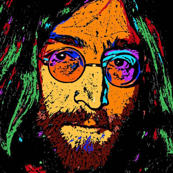 Famous People Digital Art - Pop Art Lennon by David G Paul