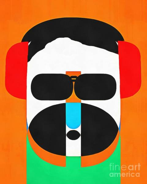 Photograph - Pop Art People Hipster by Edward Fielding