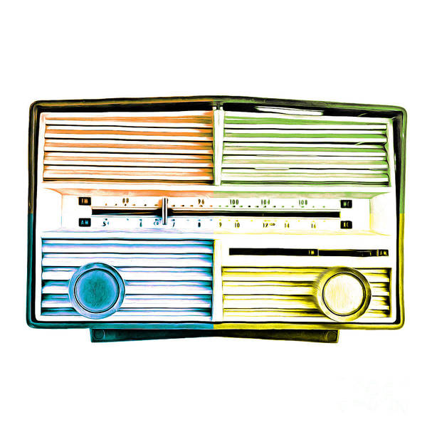Wall Art - Photograph - Pop Art Vintage Radio by Edward Fielding