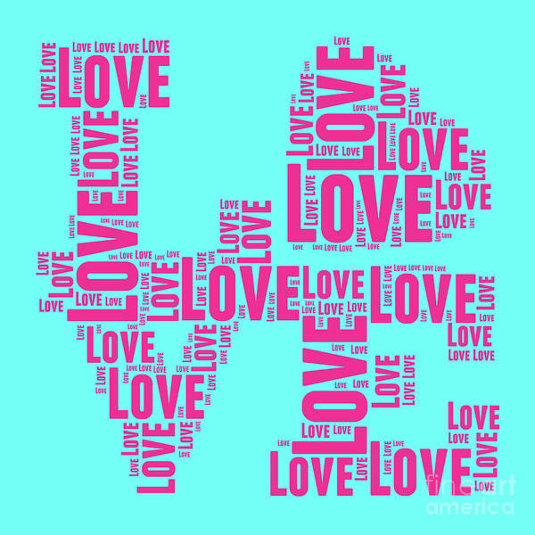 Designs Digital Art - Pop Love 1 by Delphimages Photo Creations