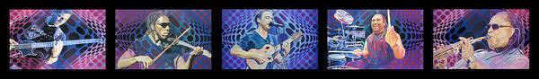 Wall Art - Drawing - The Dave Matthews Band Op Art Style by Joshua Morton