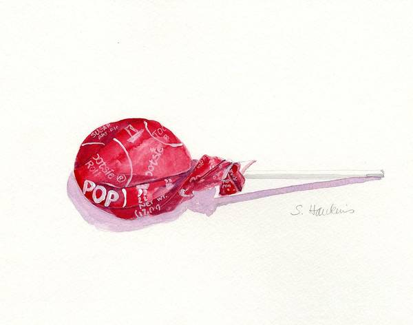 Wall Art - Painting - Pop Pop Tootsie Pop by Sheryl Heatherly Hawkins