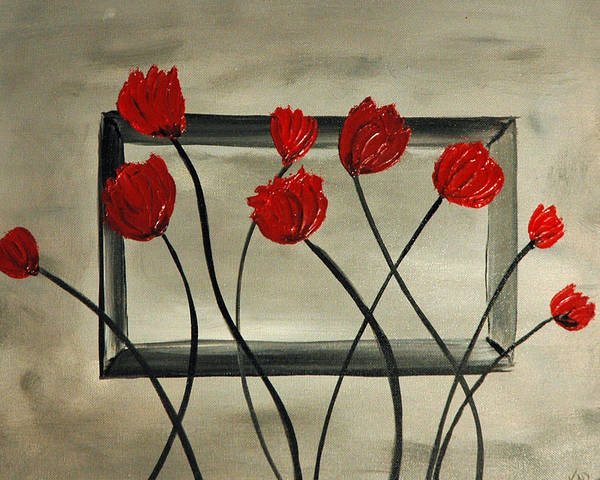 Kag Wall Art - Painting - Pop Poppy by Gina Cooper