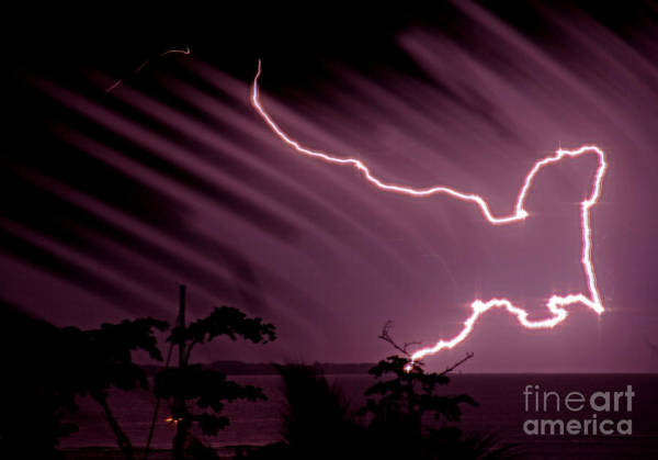 Panama Photograph - Popa Island Lightning by Bob Hislop
