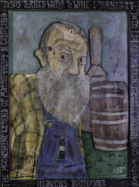 Lightening Painting - Popcorn Sutton - Heaven's Bootlegger by Eric Cunningham