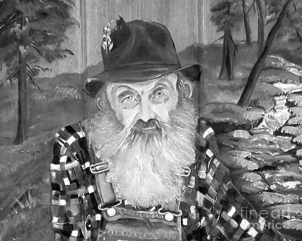 Painting - Popcorn Sutton - Maggie Valley Moonshiner by Jan Dappen