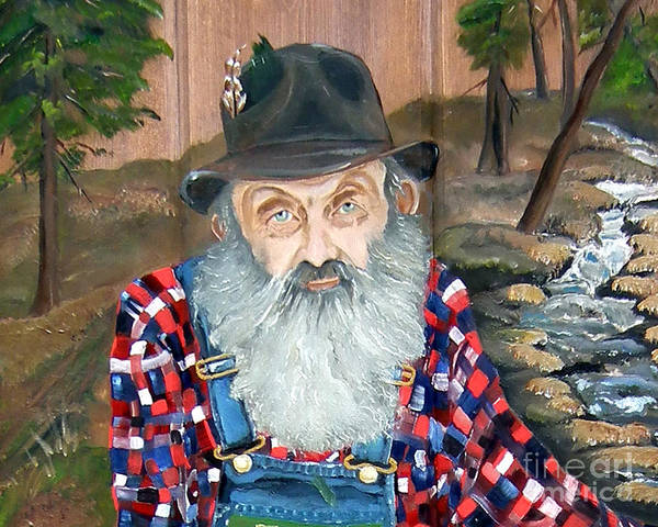Painting - Popcorn Sutton - Moonshine Legend - Landscape View by Jan Dappen