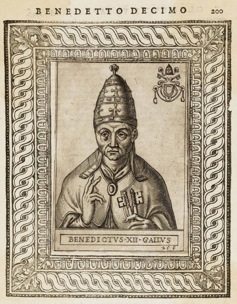 Wall Art - Drawing - Pope Benedictus Xii (jacques Fournier) by Mary Evans Picture Library