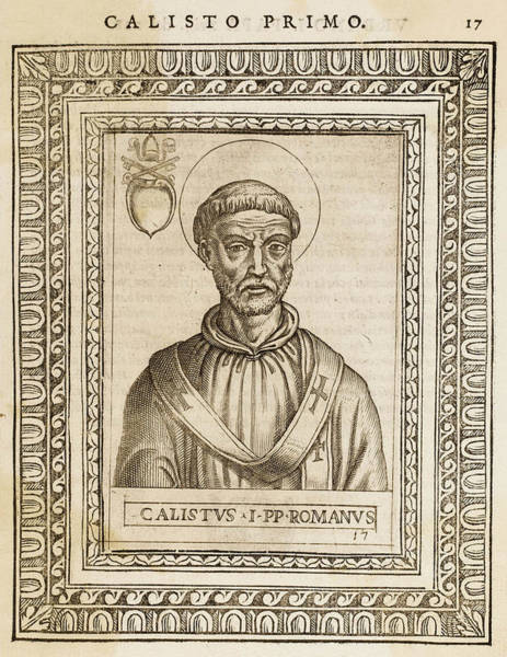 Wall Art - Drawing - Pope Callistus I  Pope And Saint by Mary Evans Picture Library