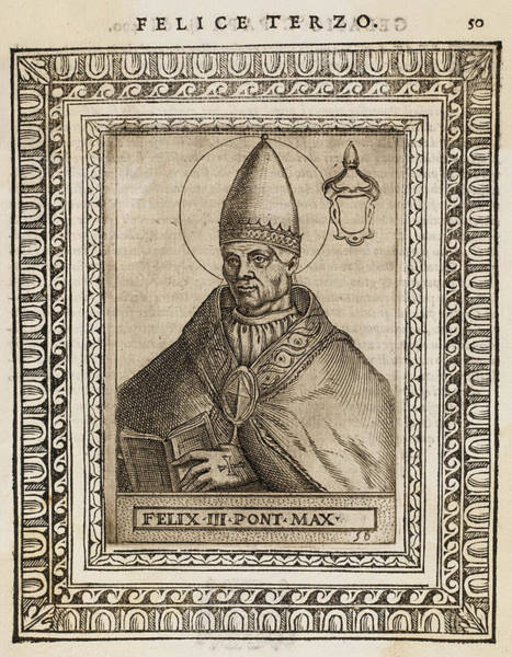 Wall Art - Drawing - Pope Felix IIi / II  (number Depends by Mary Evans Picture Library