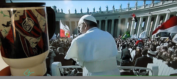 Photograph - Pope Francis Mass Inauguration Vatican Roma 19 February2013 by Colette V Hera  Guggenheim