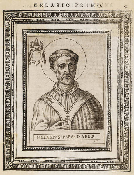Influence Drawing - Pope Gelasius I  Saint, Whose Writings by Mary Evans Picture Library
