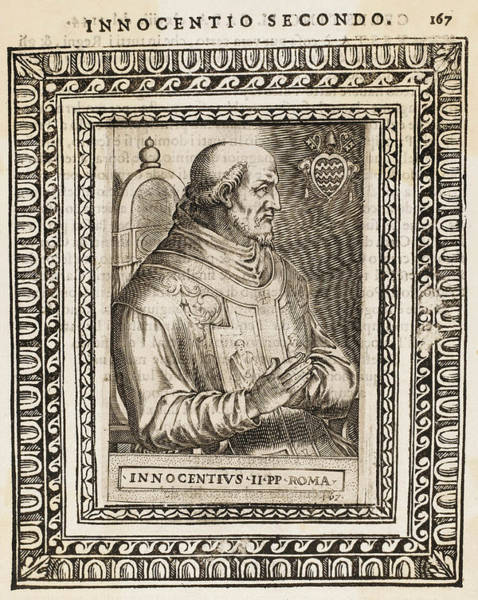 Wall Art - Drawing - Pope Innocens II (gregorio Papareschi) by Mary Evans Picture Library
