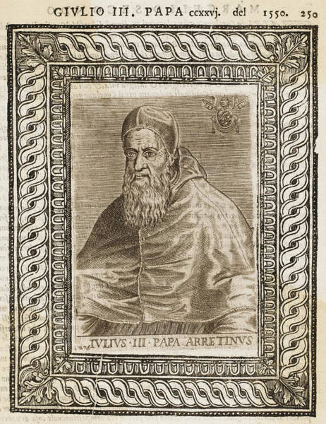 Wall Art - Drawing - Pope Julius IIi (giovanni Maria Ciocchi by Mary Evans Picture Library