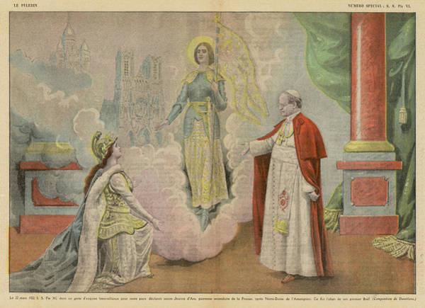 Wall Art - Drawing - Pope Pius Xi 'in A Gesture Of by Mary Evans Picture Library