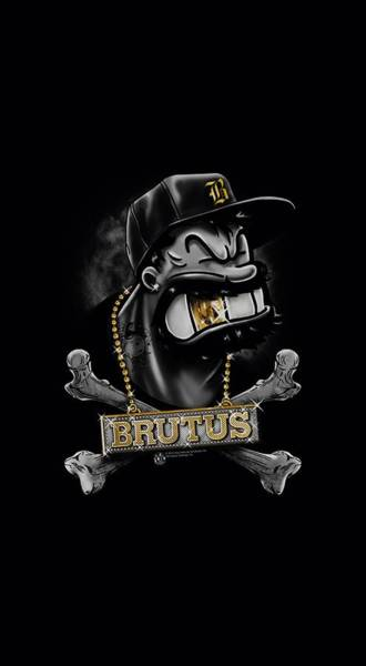 Sailors Digital Art - Popeye - Brutus by Brand A