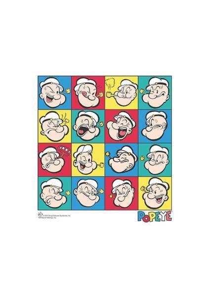 Sailors Digital Art - Popeye - Color Block by Brand A