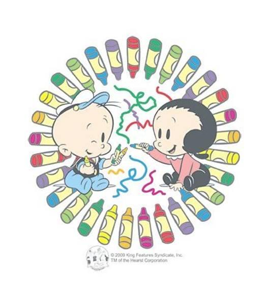 Strips Digital Art - Popeye - Fun With Crayons by Brand A