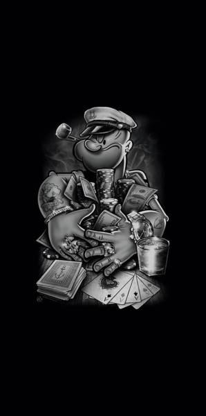Sailors Digital Art - Popeye - Mine All Mine by Brand A