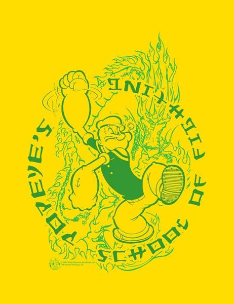Strips Digital Art - Popeye - Popeye's Fightin' School by Brand A