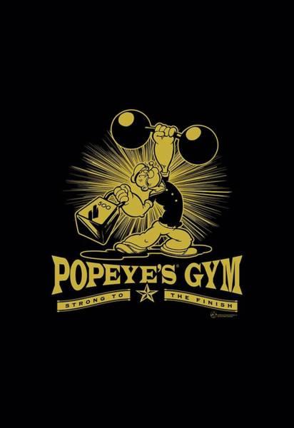 Sailors Digital Art - Popeye - Popeyes Gym by Brand A