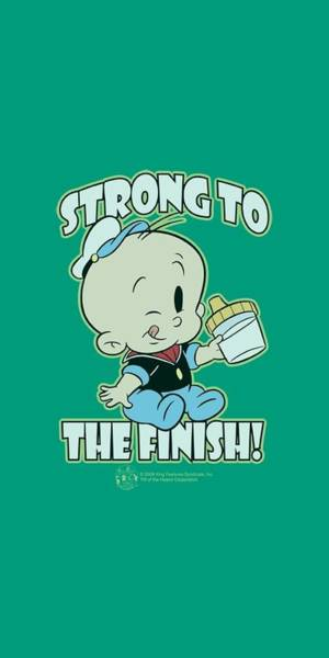 Strips Digital Art - Popeye - Strong To The Finish by Brand A