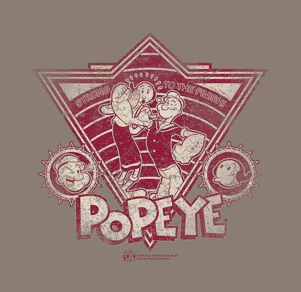 Strips Digital Art - Popeye - Strong To The Finish Vintage by Brand A