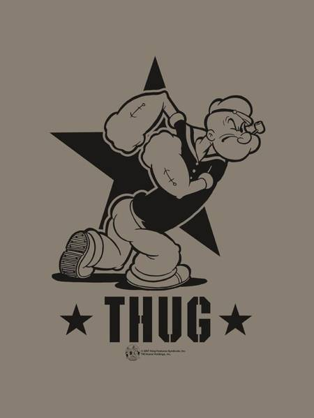Strips Digital Art - Popeye - Thug by Brand A