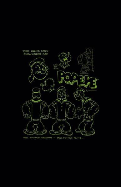 Strips Digital Art - Popeye - We Can Rebuild Him by Brand A