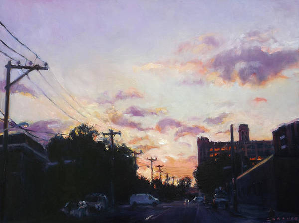 Utility Painting - Poplar West II by Jesse Gardner