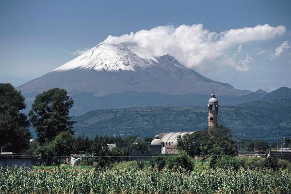 Inactive Photograph - Popocatepetl Volcano by Peter Menzel/science Photo Library