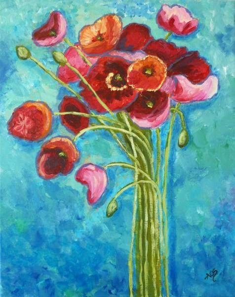 Painting - Poppies by Amelie Simmons