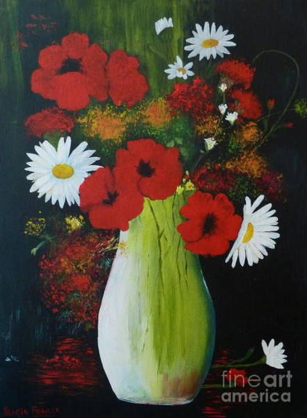 Painting - Poppies And Daisies by Alicia Fowler