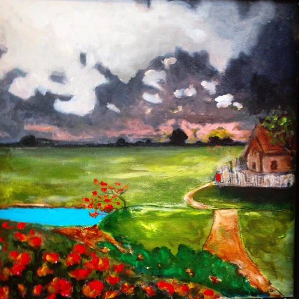 Painting - Poppies And Posies by Dilip Sheth