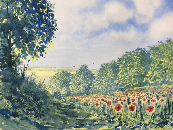 Painting - Poppies A'plenty by Glenn Marshall