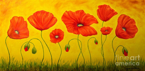 Atmospheric Painting - Poppies At The Time Of by Veikko Suikkanen
