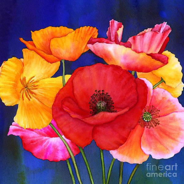 Wall Art - Painting - Poppies by Hailey E Herrera