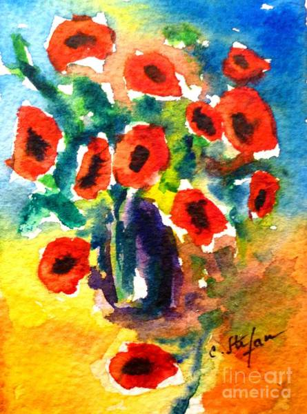 Painting - Poppies In A Vase by Cristina Stefan