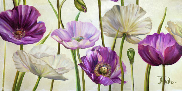 Wall Art - Painting - Poppies In Spring I by Patricia Pinto