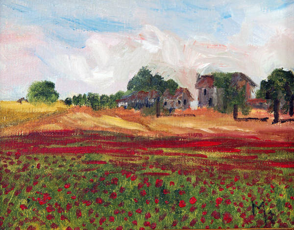 Painting - Poppies In Tuscany by Michael Helfen