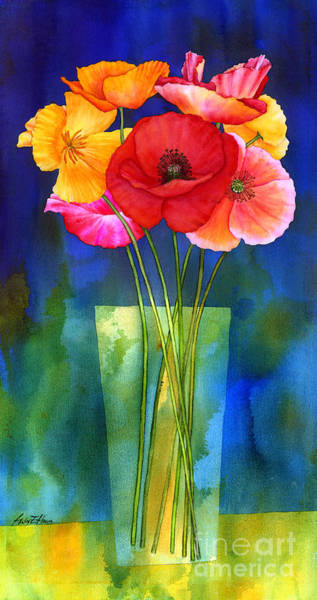 Painting - Poppies In Vase by Hailey E Herrera