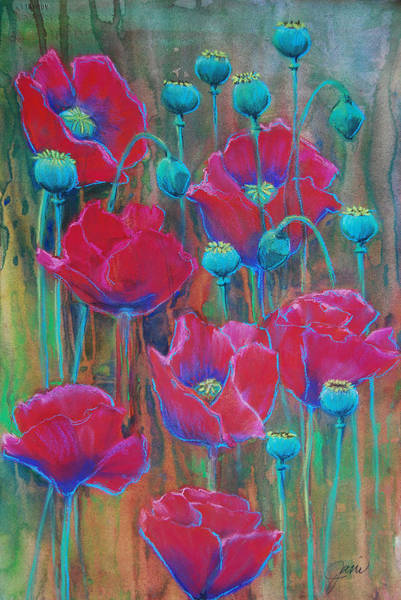 Painting - Poppies  by Jani Freimann