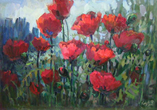 Wall Art - Painting - Poppies by Juliya Zhukova